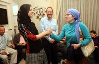 Tag Meir Visits Home of Assaulted Teacher